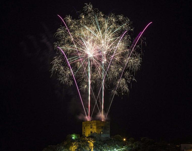 Pyromusical event in Vélez de Benaudalla
